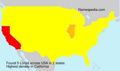 Surname Lonjid in USA
