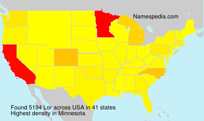 Surname Lor in USA