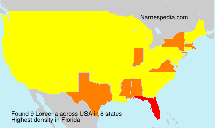 Surname Loreena in USA