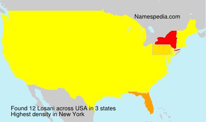 Surname Losani in USA