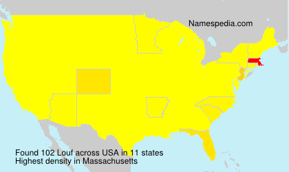 Surname Louf in USA