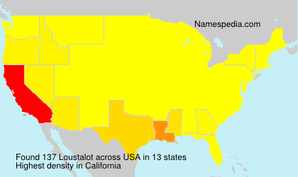 Surname Loustalot in USA