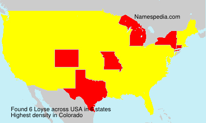 Familiennamen Loyse - USA