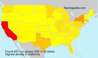 Surname Lun in USA