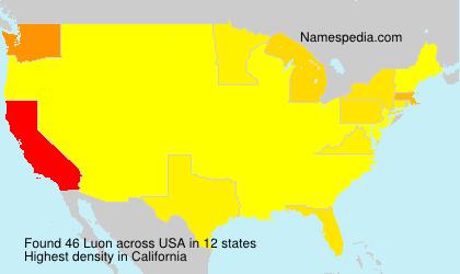 Familiennamen Luon - USA