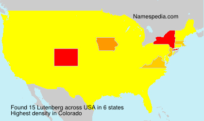 Surname Lutenberg in USA