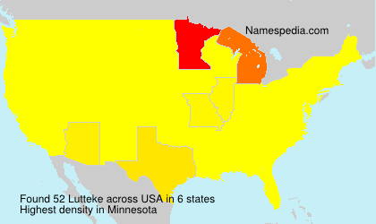Surname Lutteke in USA