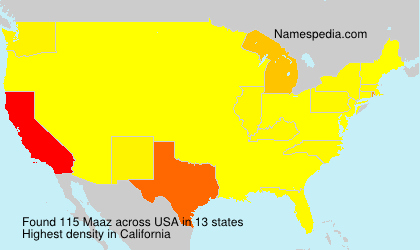 Surname Maaz in USA
