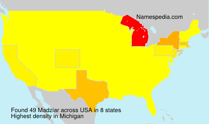 Surname Madziar in USA