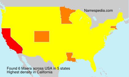Surname Maera in USA