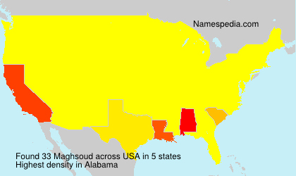 Surname Maghsoud in USA