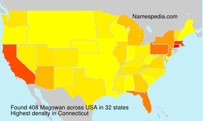 Surname Magowan in USA