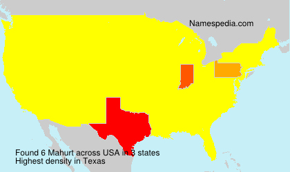 Surname Mahurt in USA