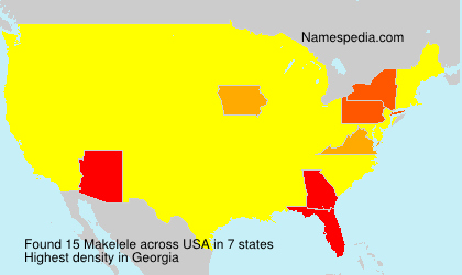 Surname Makelele in USA