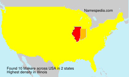 Surname Makere in USA