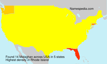 Surname Malaghan in USA