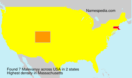 Surname Malevanyy in USA