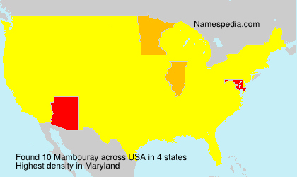 Surname Mambouray in USA
