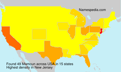 Surname Mamoun in USA