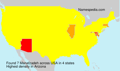 Surname Manafzadeh in USA