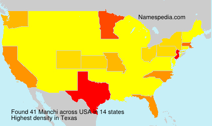 Surname Manchi in USA