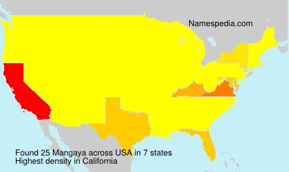 Surname Mangaya in USA