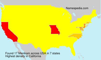 Surname Manikam in USA