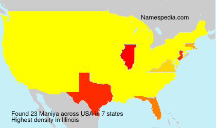 Surname Maniya in USA