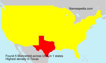 Surname Mannefeld in USA
