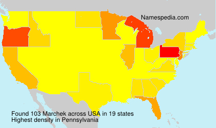 Surname Marchek in USA