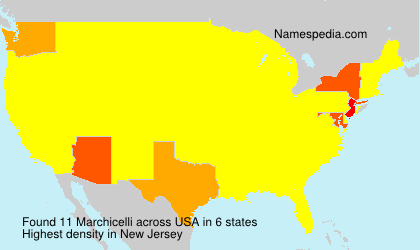 Surname Marchicelli in USA