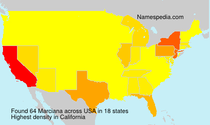 Surname Marciana in USA