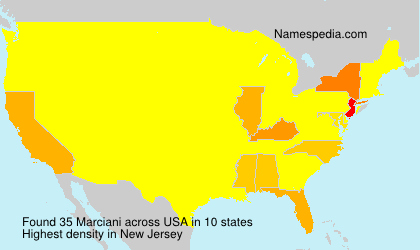 Surname Marciani in USA