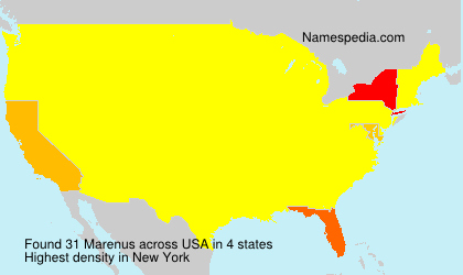 Surname Marenus in USA