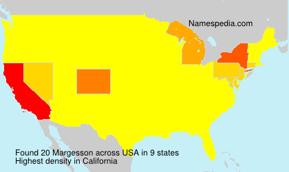Surname Margesson in USA