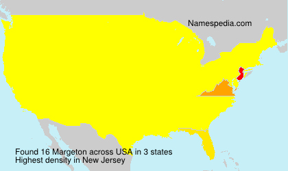 Surname Margeton in USA