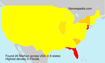 Surname Marhan in USA