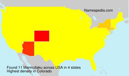Surname Marmullaku in USA