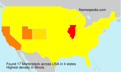 Surname Martersteck in USA