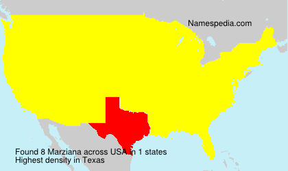 Surname Marziana in USA