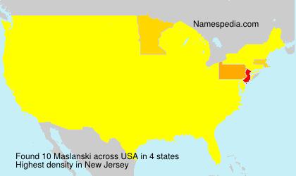 Familiennamen Maslanski - USA