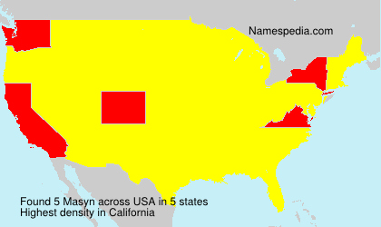 Surname Masyn in USA
