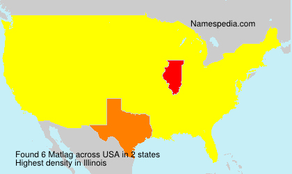 Surname Matlag in USA