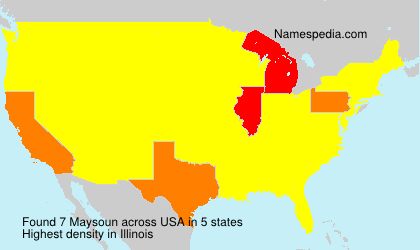 Surname Maysoun in USA