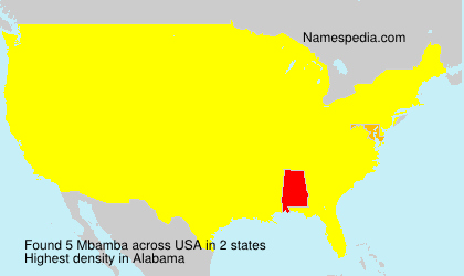 Surname Mbamba in USA
