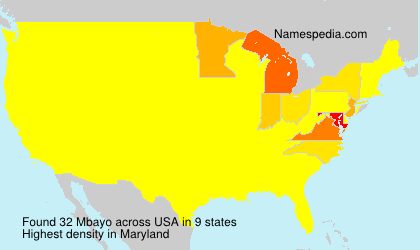 Surname Mbayo in USA