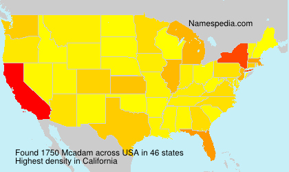 Familiennamen Mcadam - USA