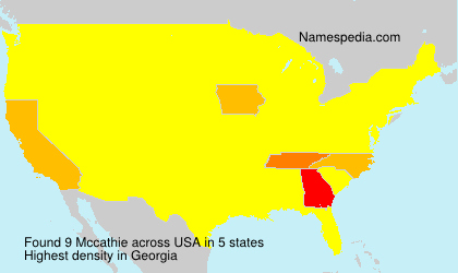Mccathie - Names Encyclopedia