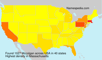 Surname Mccolgan in USA