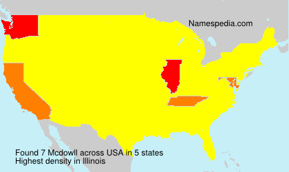 Surname Mcdowll in USA
